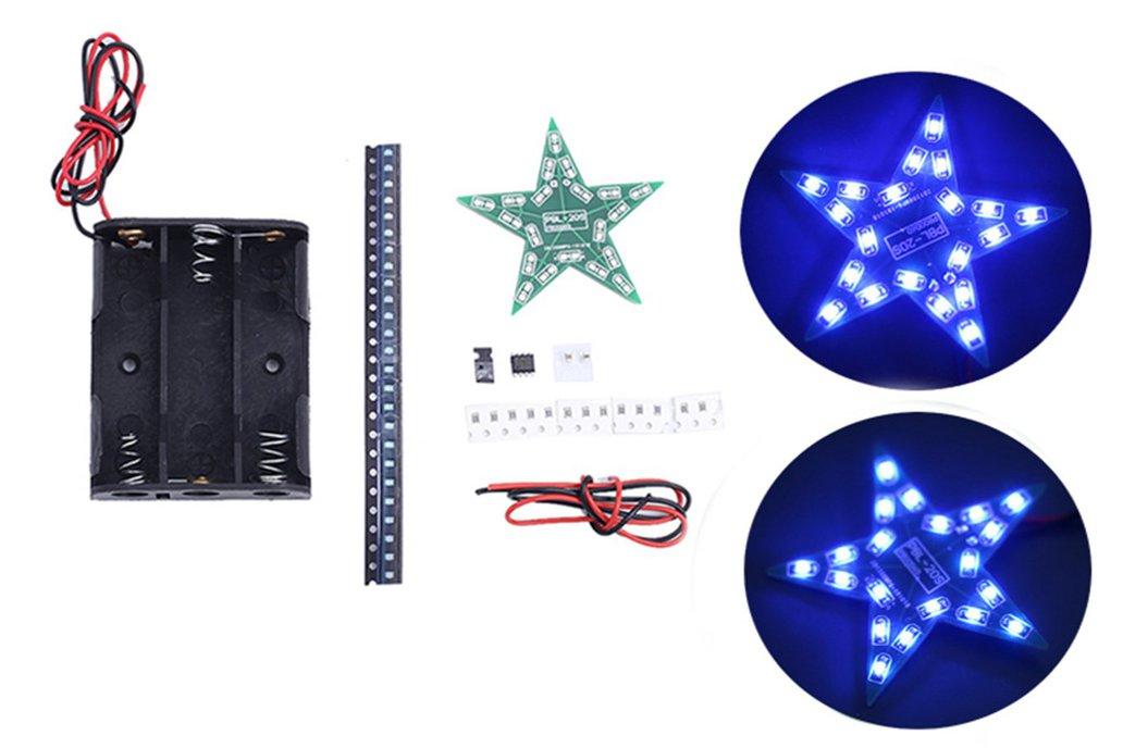 DIY Kit Pentagram Blue LED Breathing Light 1