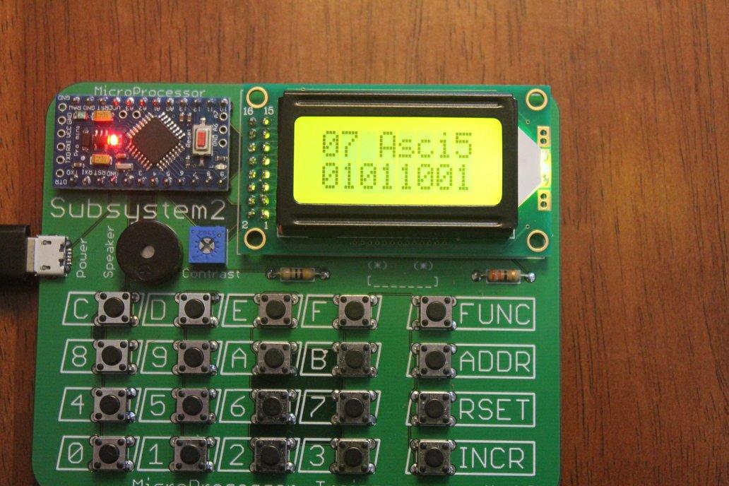 4-bit Microprocessor Trainer 7