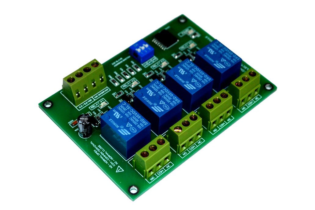 4 Channel I2C Electromagnetic Relay Module 1