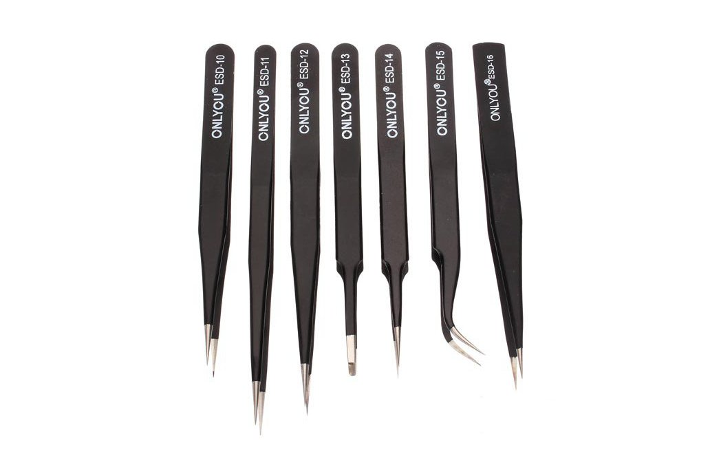 7pcs BGA Precision Tweezer Set Antistatic Tweezers 1