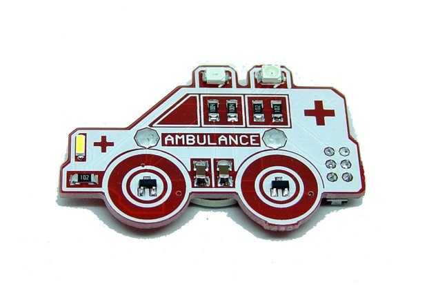 Ambulance - LED learn to solder kit