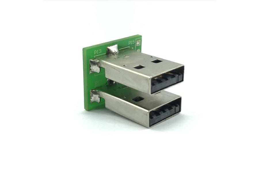 Dual USB male header plug breakout