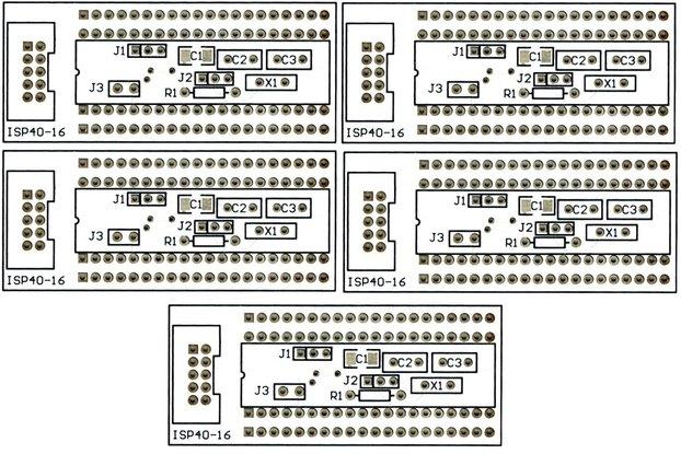 5PCS ATmega 40 Pin Breakout Boards Free Shipping