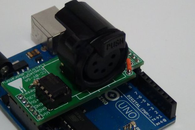 SimpleDMX - 5 pin shield for Arduino