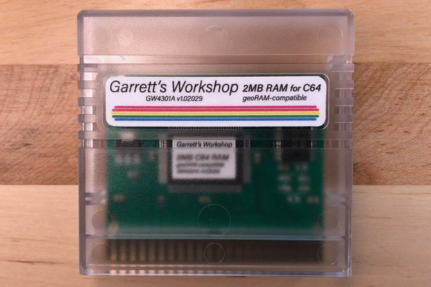 GW4301A -- 2MB RAM for C64 -- geoRAM compatible