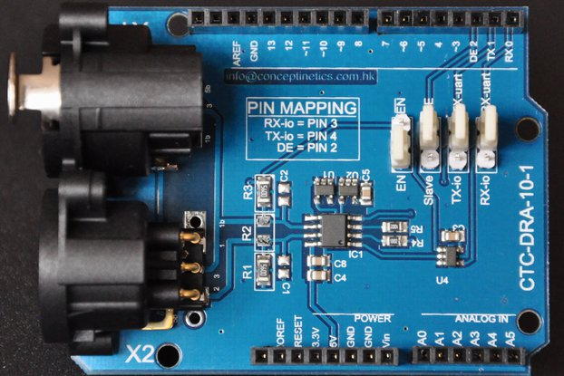 DMX Shield for Arduino (RDM Capable)
