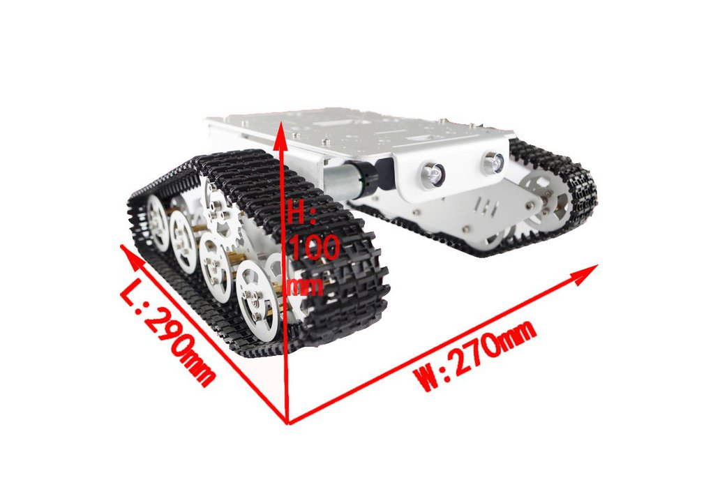 T300 Aluminum Alloy Metal Tracked Tank chassis  3