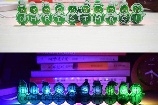 Full Color Christmas Snowman Music Box DIY Kit