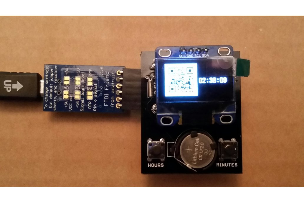 OLED clock shield kit for ProMini 4