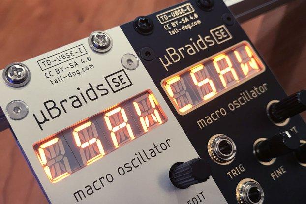 µBraids SE (uBraids, microBraids) Eurorack [Rev E]