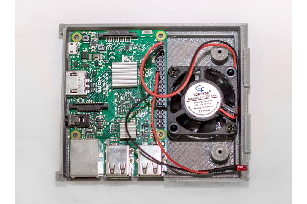 3D Printed SNES Case for Raspberry Pi w/ Fan & LED 5
