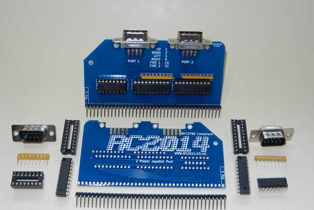 Twin Port Joystick Module For RC2014 Z80 Computer