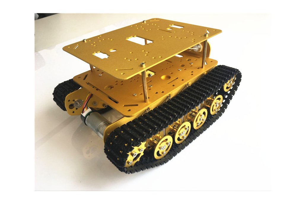Double Panel Metal Shock Absorption Robot Tank Car 4