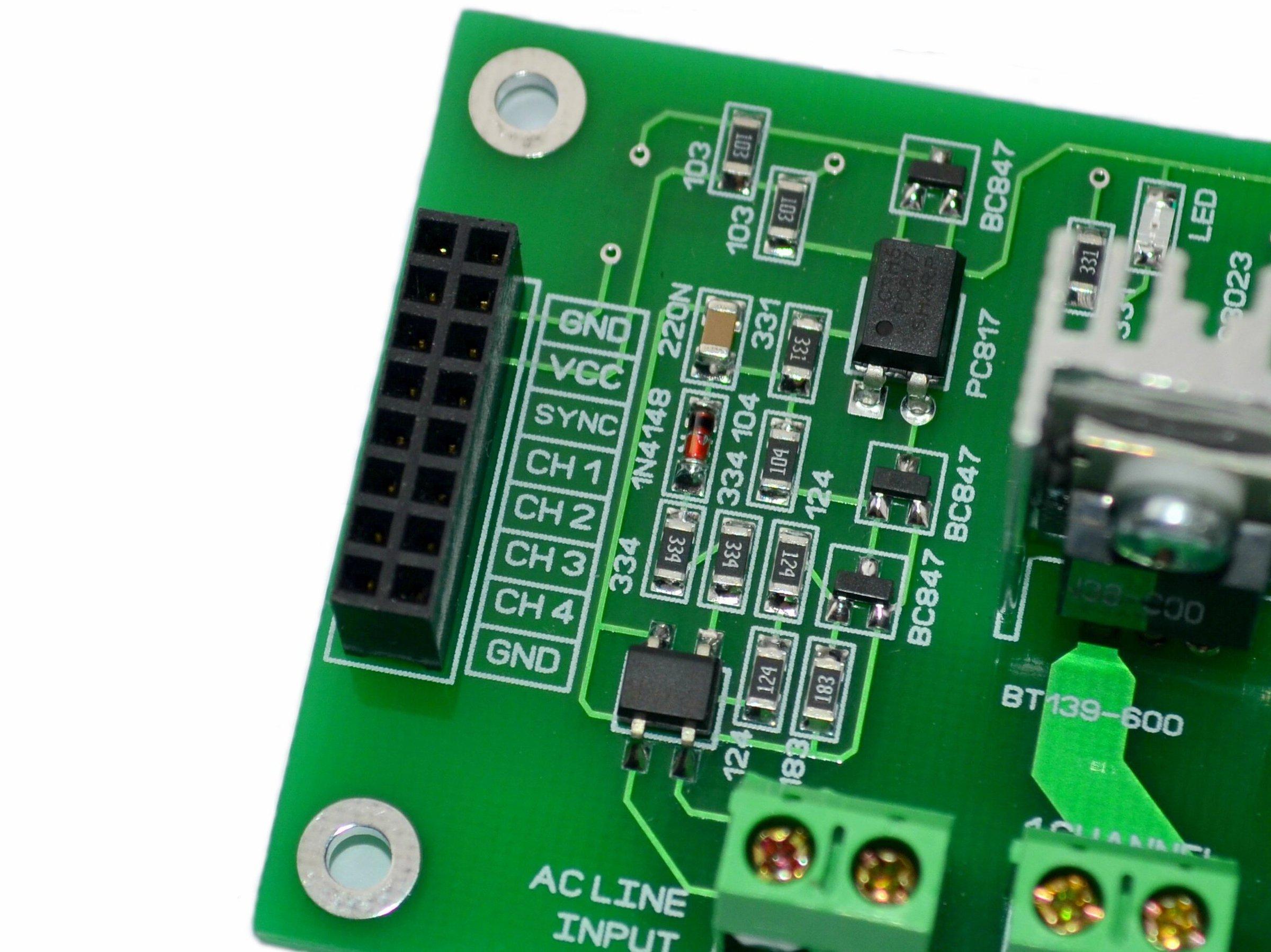 4ch Ac Dimmer V1 Module Controller Board Arduino From Krida 110v Power Circuit 2