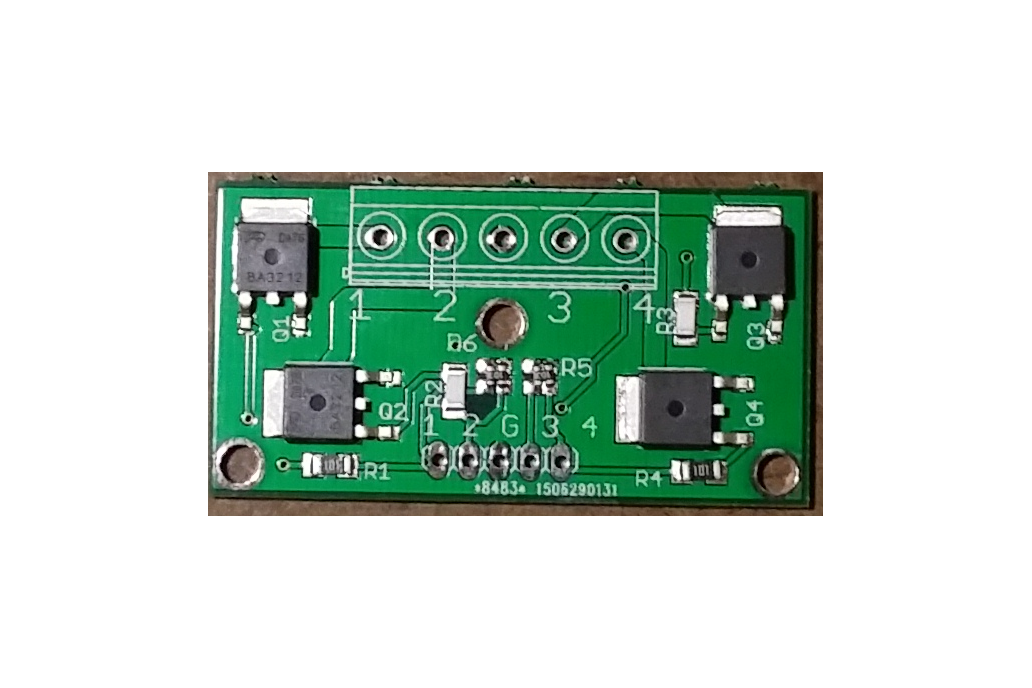 4-CH 2.5V logic level MOSFET board 20A,20V 1