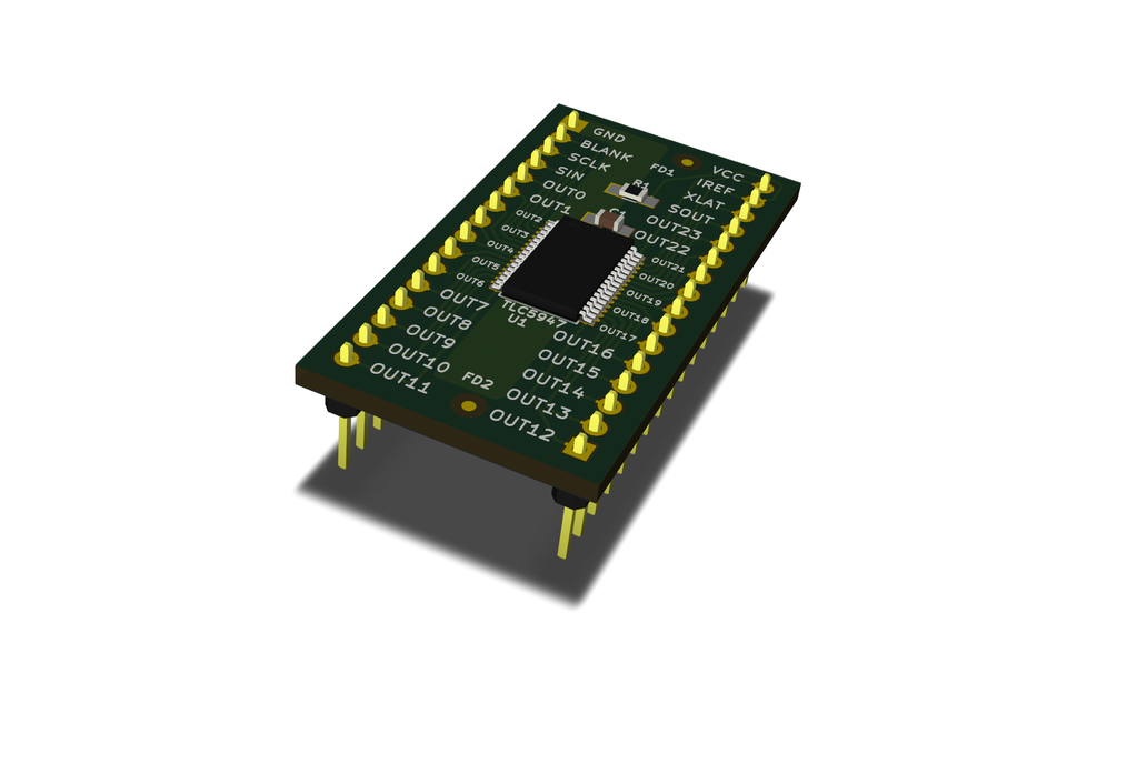 Breakout TLC5947 LED driver or other 32-pin TSSOP 5
