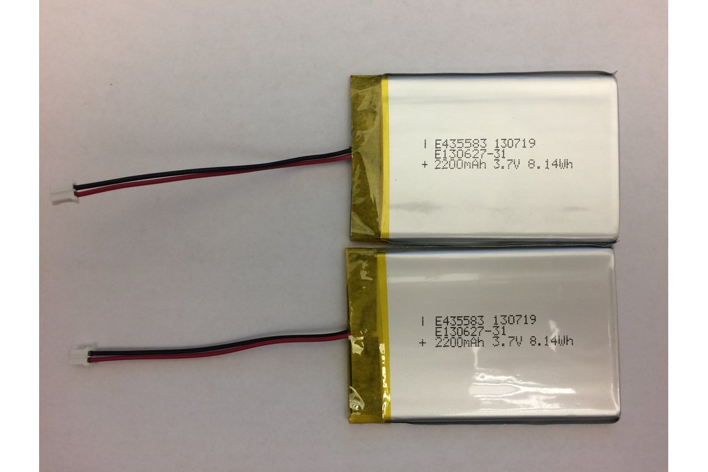 3.7V 2200 mAh Lithium Polymer Battery (2-PACK) 1