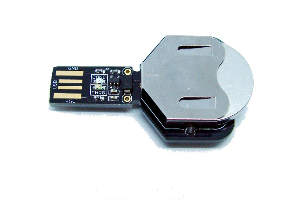 USB coin cell battery charger LIR2450 and LIR2032 1