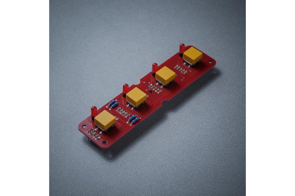 BL41 - 4 (4x1) tactile buttons + LED module 1