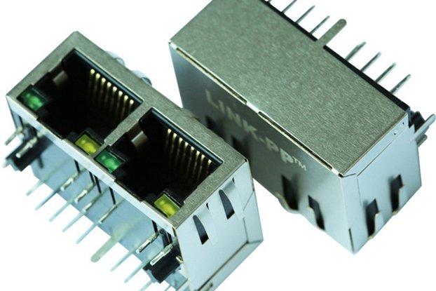 J8064D628ANL with leds Ethernet RJ45 Modular Jack