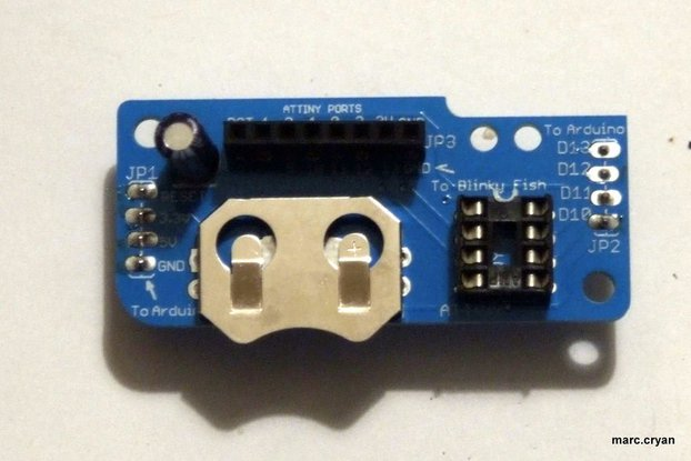 Fish Bowl - ATtiny programming shield, standalone.