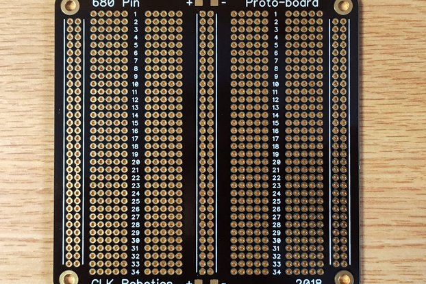 680-Pin, 136-Row Protoboard, ENIG Finish