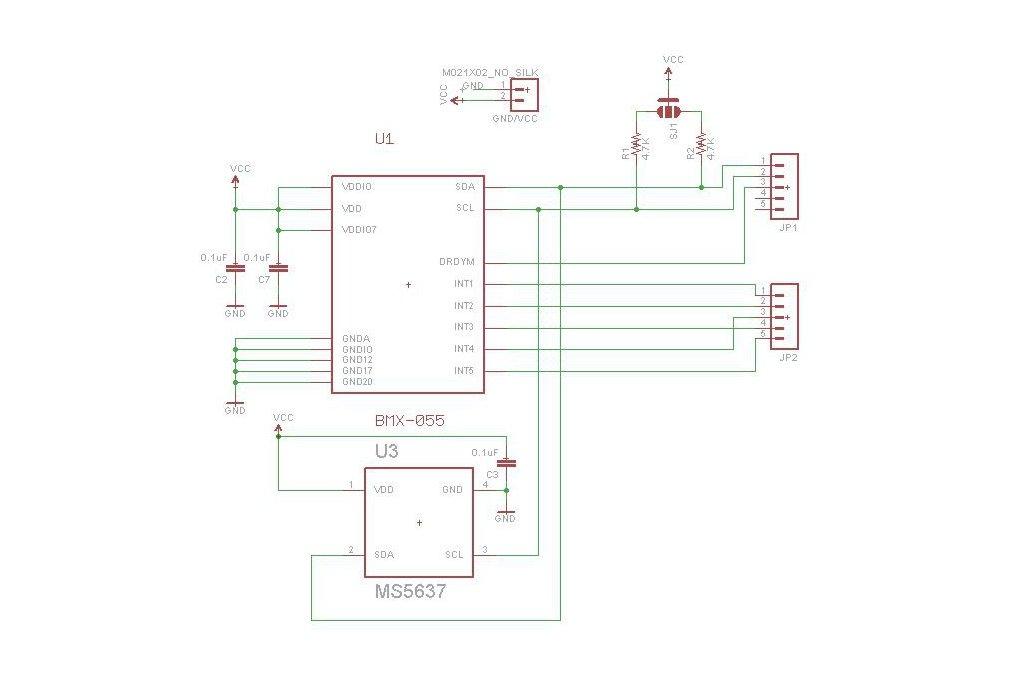 BMX-055 9-axis motion sensor add-on for Teensy 3.1 4
