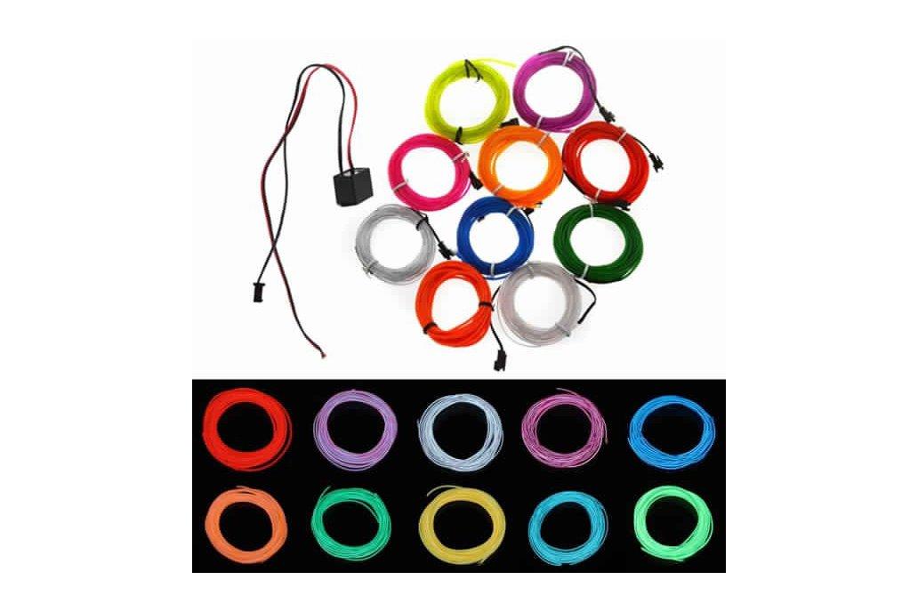 4M 10 colors 3V Flexible Neon EL Wire Light Dance  1