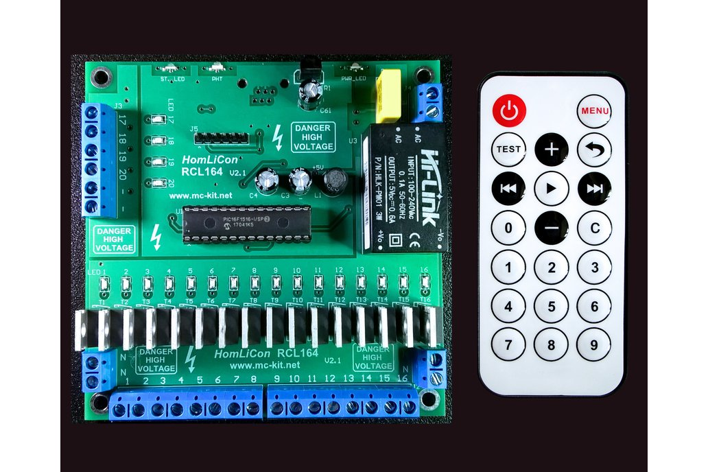 20 Channel Light Show Controller-HomLiCon RCL164R 1