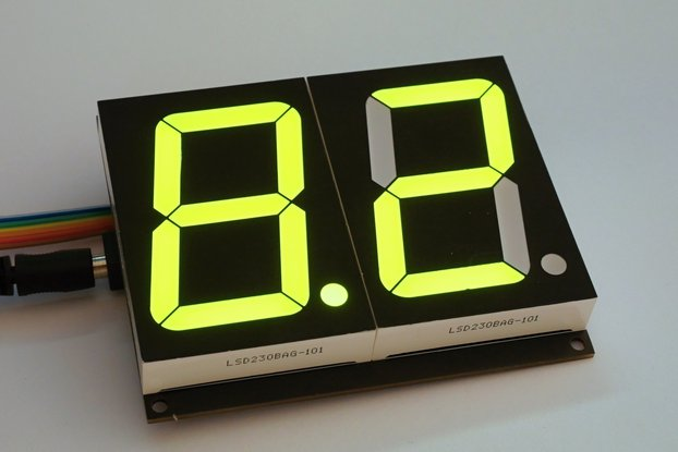 Dual large 7 segment display w/ CC driver