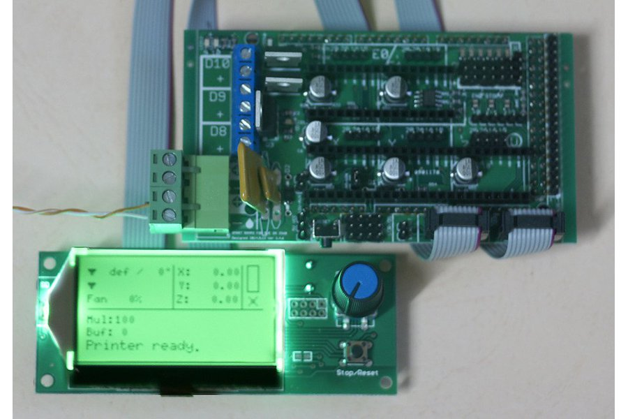 SMART RAMPS + AZSMZ 12864 LCD (For Arduino Due)