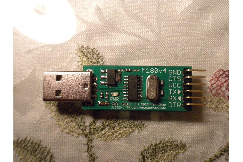 Fused USB to UART adapter (3.3V and 5V, M180/1v4) 7