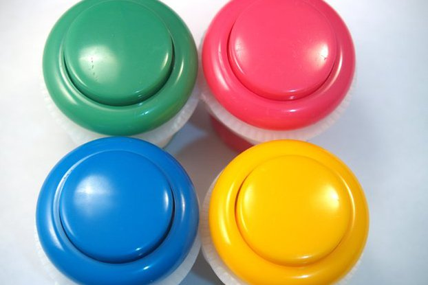 Candy Colour Arcade Buttons!