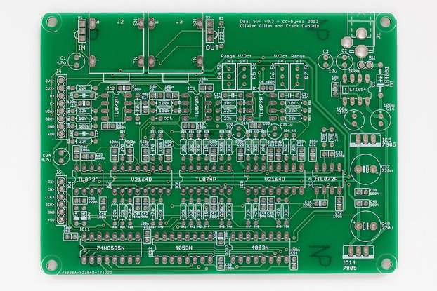 Shruthi Dual SVF Filter PCB