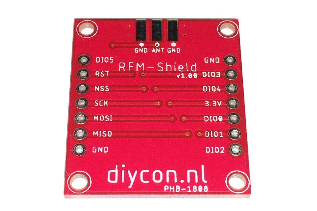 LoRa Node PCB Shield HopeRF RFM95W SX1276 868MHz 2