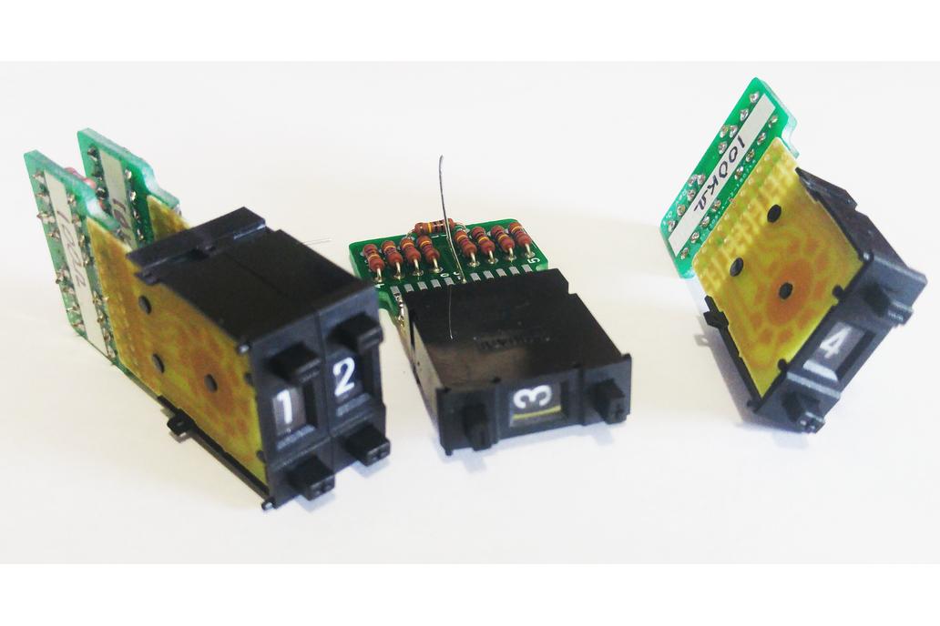 DIY Resistance Decade Thumbwheel Resistor Adapters 1