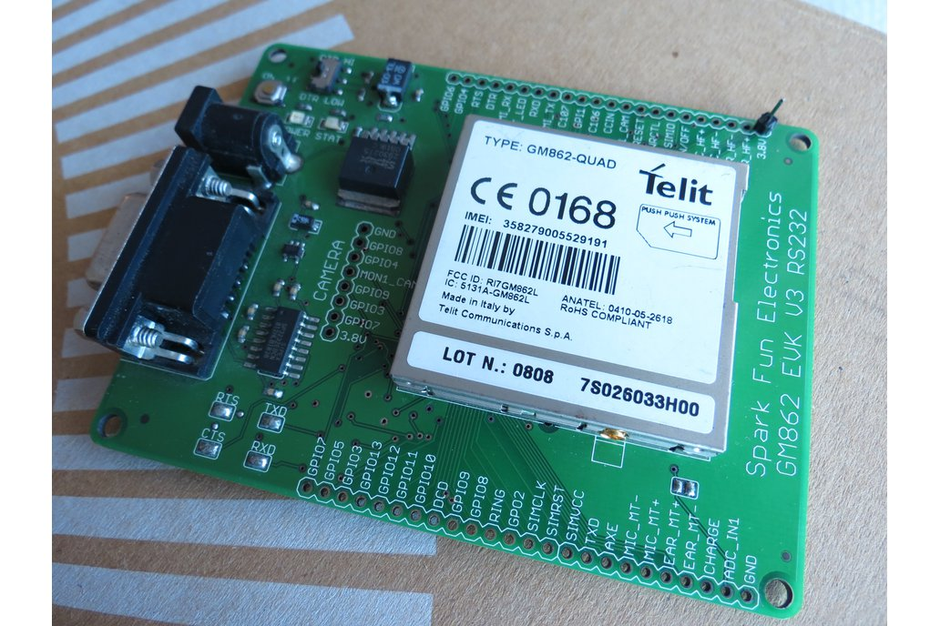 Telit GM862-QUAD GSMGPRS rs232 uart IP TCP HTTP AT 1