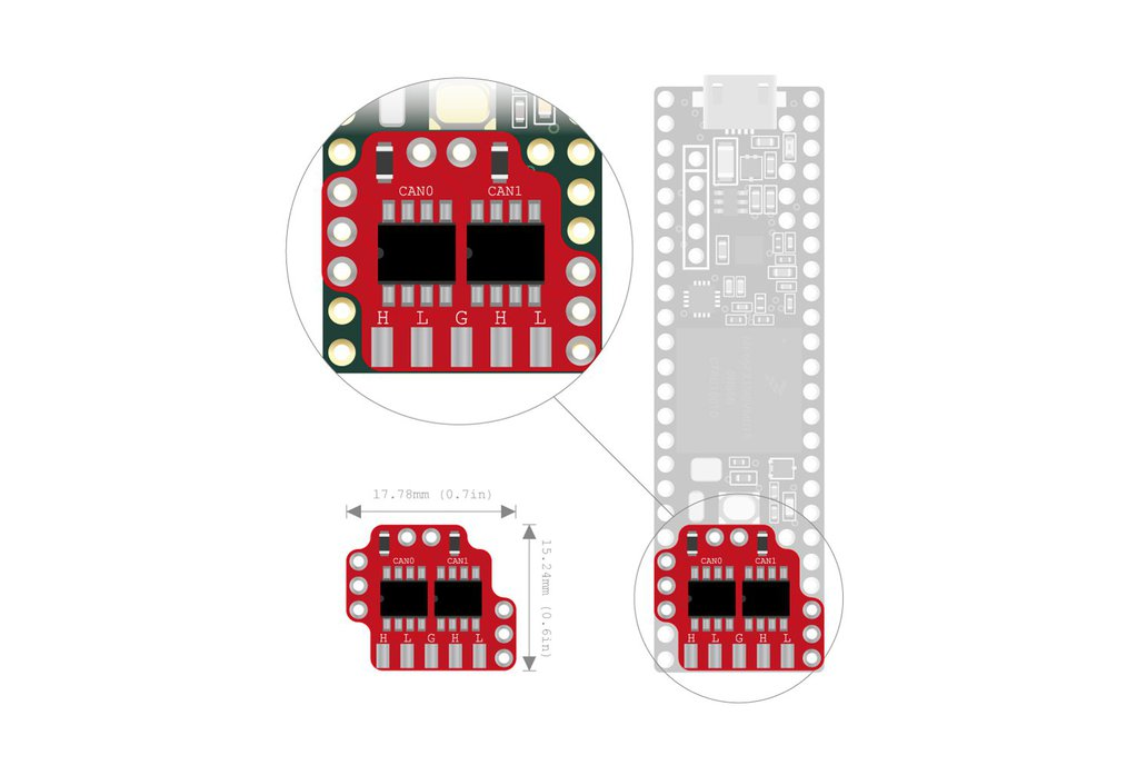 Dual CAN-Bus adapter for Teensy 3.5, 3.6 4