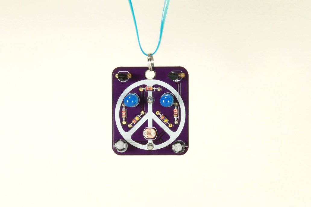 Peace: Wearable Blinky-Board Soldering Skills Kit 1