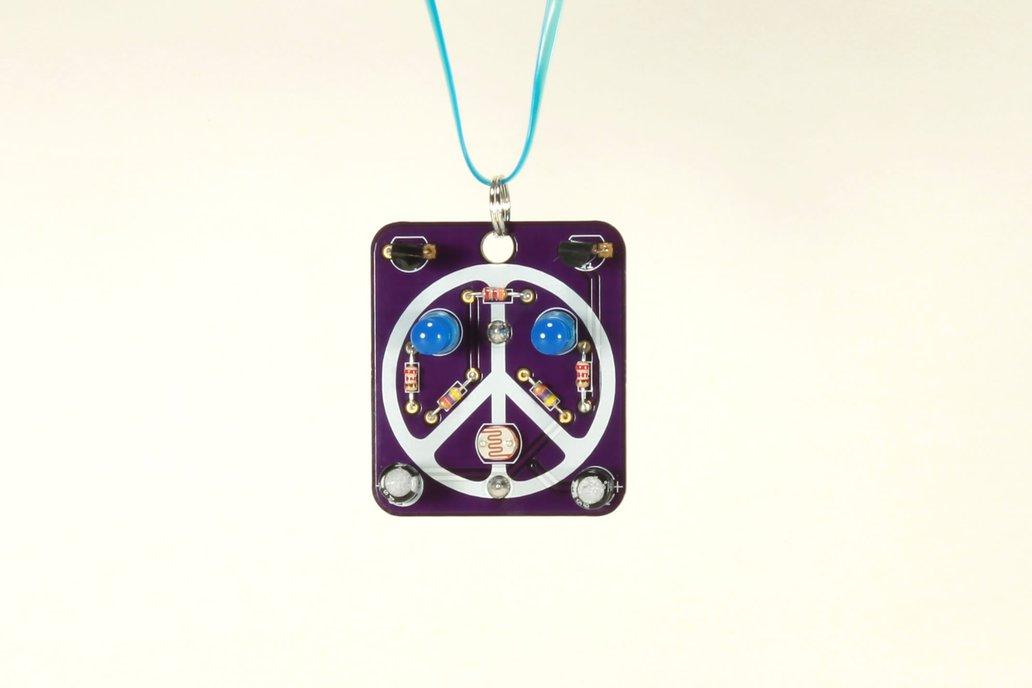 Peace: Wearable Blinky-Board Soldering Skills Kit 1