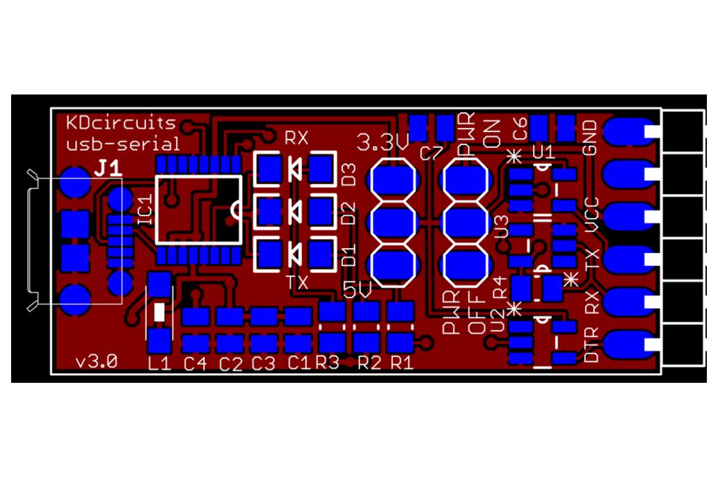 FTDI USB-SERIAL Converter - 5V/3.3V 4