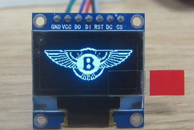 OLED 0.96inch 12864 display module blue