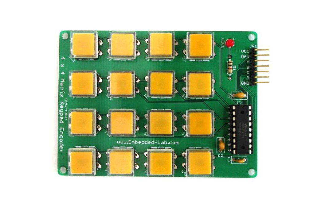 Encoded matrix keypad (16-switch) 1