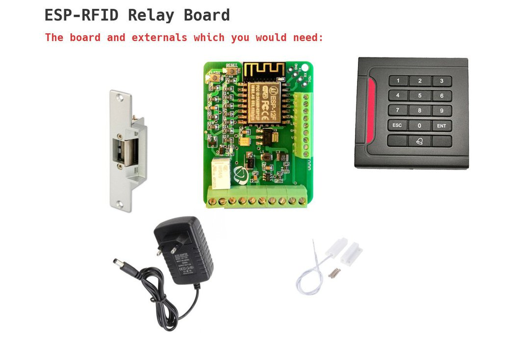 ESP-RFID Relay Board (12V for ESP8266 Board) 8