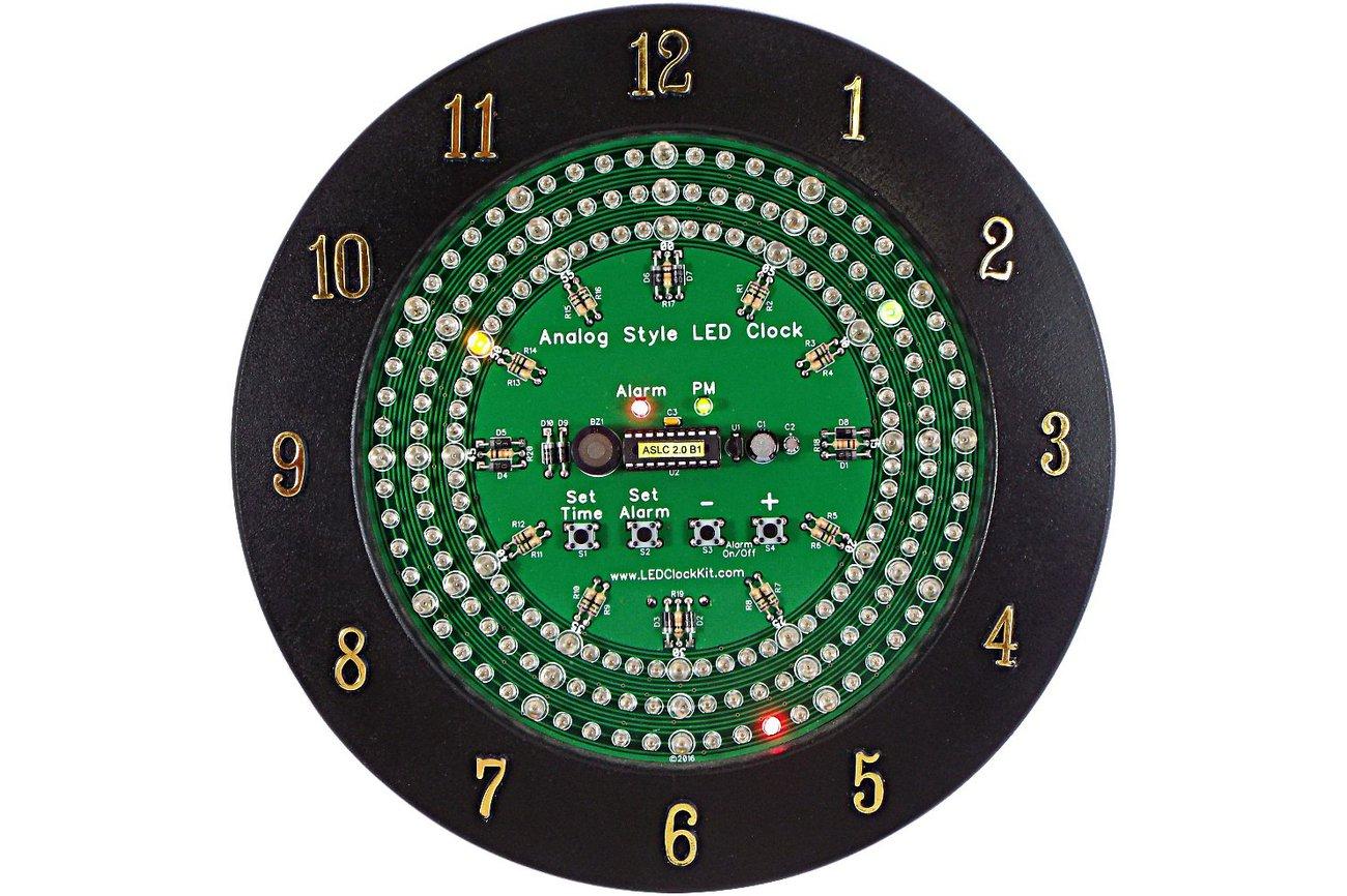 Analog Style LED Clock Kit