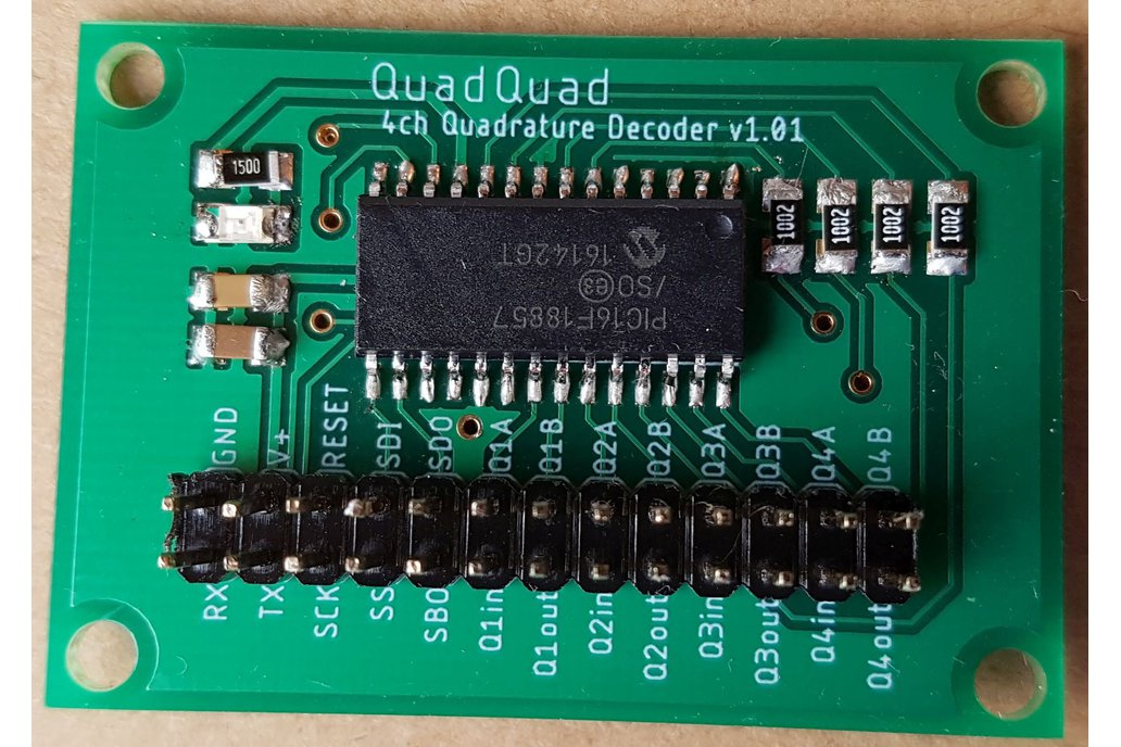 QuadQuad PCB - 4ch incremental quadrature decoder 1