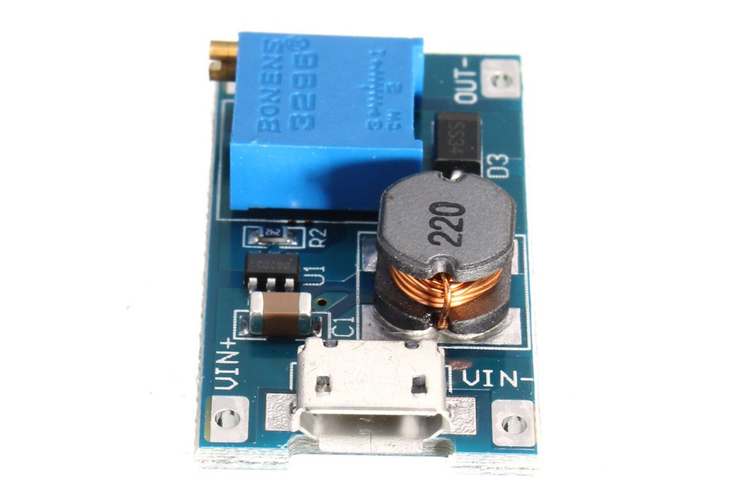 2A DC-DC Boost  2V-24V to 5V-28V MicroUSB adjustab 1