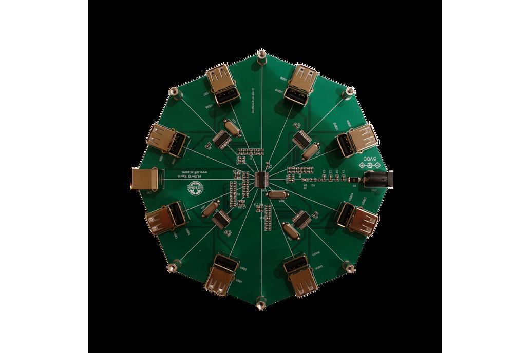 Round Shaped 16-port USB 2.0 Hub 1