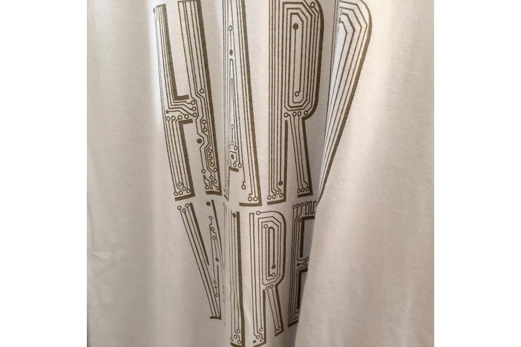 HARD WIRED - Typographic Circuitry Graphic T-shirt 1