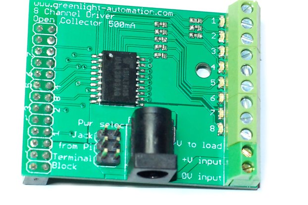 Eight Channel driver board for Raspberry Pi